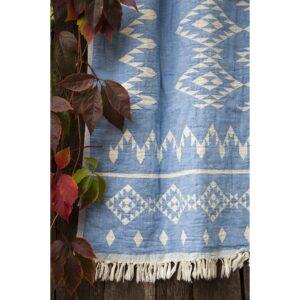 Покрывало Barine – Kilim Throw Blue 130*170 голубой