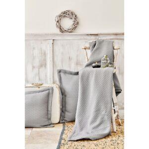 Покрывало с наволочками Karaca Home – Charm bold gri серый 250*240 евро