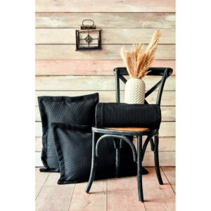 Покрывало с наволочками Karaca Home – Charm bold siyah черный 250*240 евро