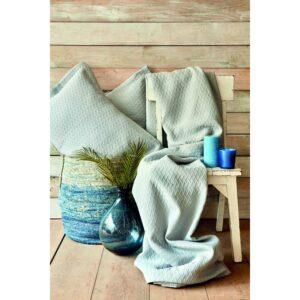 Покрывало с наволочкой Karaca Home – Charm bold mavi голубой 160*240 полуторный