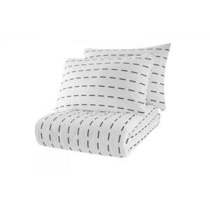 Покрывало стеганое с наволочками Enlora Home – Cubuk Beyaz белый 240*225